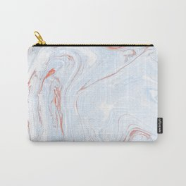 Blue Orange Marble Retro Marble Paper Carry-All Pouch