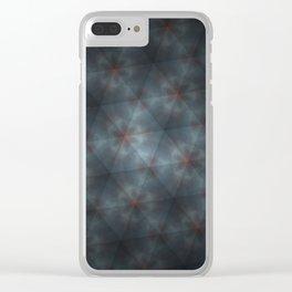 Clouds Triangle Pattern Clear iPhone Case