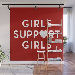 Girls Support Girls Feminist Quote Wall Mural