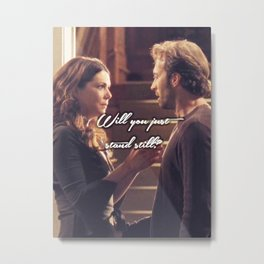 Luke and Lorelai - Stand Still Metal Print
