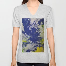 Marble Earth Pour Unisex V-Neck