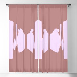 Echo Of Love - Mid-Century Minimalist Graphic Blackout Curtain