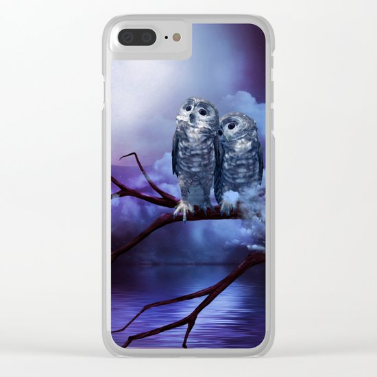 Cute couple owls Clear iPhone Case