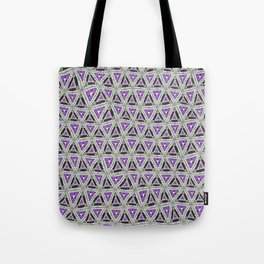 Retro distorted triangular shapes  Tote Bag