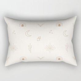Bohemian Desert Neutrals Rectangular Pillow