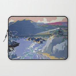 Mid Century Modern Vintage Travel Poster Art British Railways Train Landscape Colorful Pop Art Laptop Sleeve