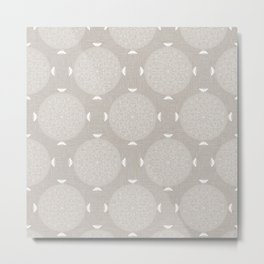 Foam Latte Rosette Lace Metal Print