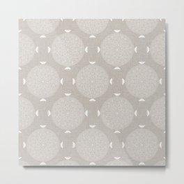 Foam Latte Rosette Lace Metal Print