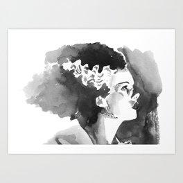 The Bride (profile) Art Print