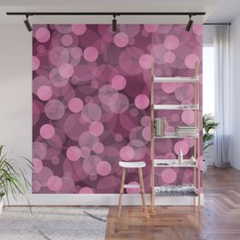 Pink Bubbles 2 Wall Mural