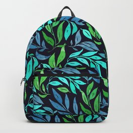 Loose Leaves - cool colors Backpack