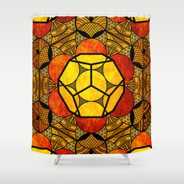 Sacred Geometry for your daily life -  Platonic Solids - ETHER COLOR Shower Curtain