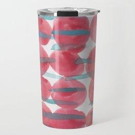 31    | 190408 Red Abstract Watercolour Travel Mug