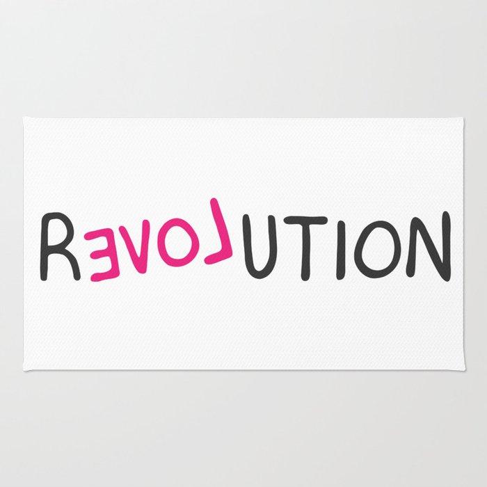 Revolution love pink grafitti Rug