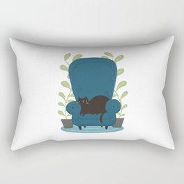 CAT + CHAIR Rectangular Pillow