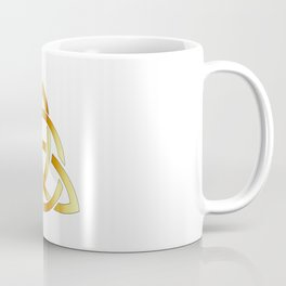Golden triquetra celtic cross-3 point Celtic Trinity knot Coffee Mug
