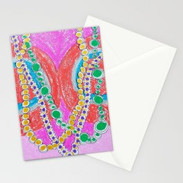 Colorful Mardi Gras Stationery Cards