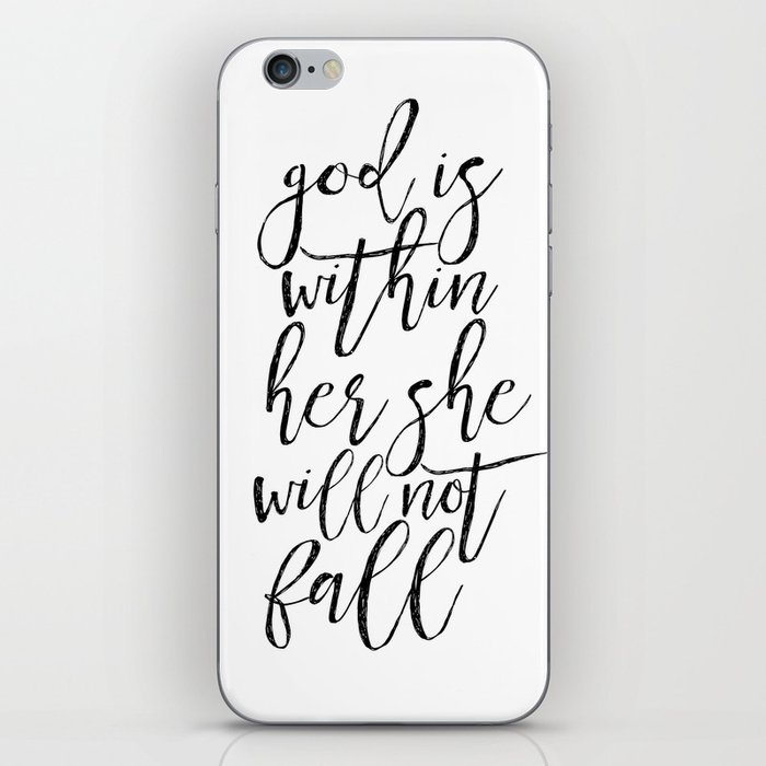 Scripture Sign Bible Cover God Is Within Her She Will Not Fall
