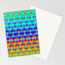 neon tiles Stationery Cards