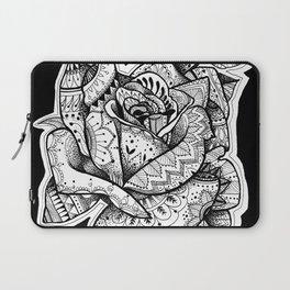 Henna Rose Tattoo Laptop Sleeve