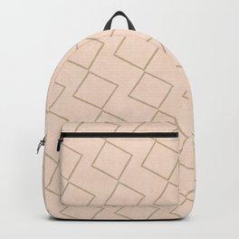 Tilting Diamonds in Beige Backpack
