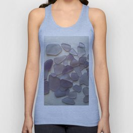 Genuine Purple Sea Glass Collection Unisex Tank Top