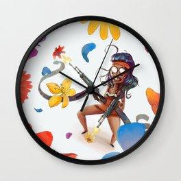 flower power motherfocker Wall Clock