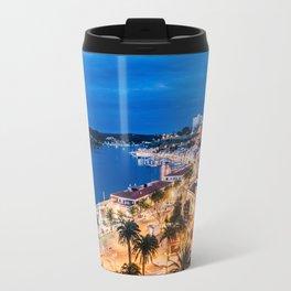 Paisaje nocturno del puerto de maó Travel Mug