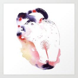 Polar Bear Love Print Art Print