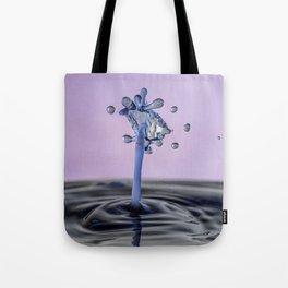 Blue water flower waterdrop Tote Bag