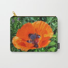 Wild Red Poppy Photograph Carry-All Pouch