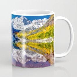 Fall Season at Maroon Bells Panorama Coffee Mug