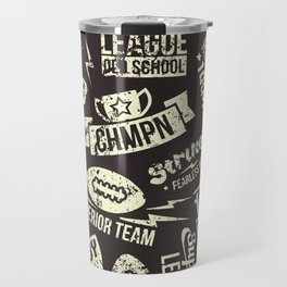 Sport rugby emblems pattern Travel Mug