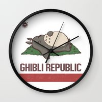 nausicaa Wall Clocks featuring Ghibli Republic by Li.Ro.Vi