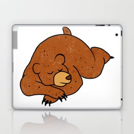 sleeping bear cartoon Laptop & iPad Skin