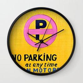 No Parking  Wall Clock