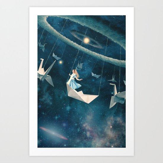 My Favourite Swing Ride Art Print
