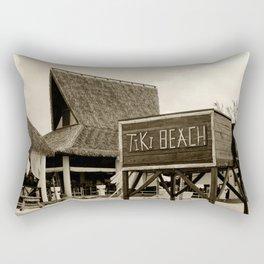 Travel Photography : Tiki Beach in Cayman Islands Rectangular Pillow