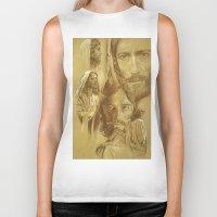 jesus Biker Tanks featuring Jesus by Bryan Dechter