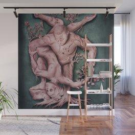 Entangled - Rose Gold & Green Wall Mural
