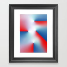 Red and Blue Framed Art Print