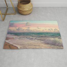 Beautiful: Sunset Relaxing, Peaceful, Coastal Seashore  Rug