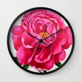 peony in bloom Wall Clock