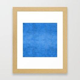 """Exotic Moroccan Indigo Blue Burlap Texture"" Framed Art Print"