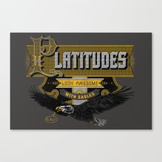 Platitudes Look Awesome With Eagles! Canvas Print