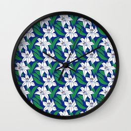 Japanese Floral Pattern 02 Wall Clock