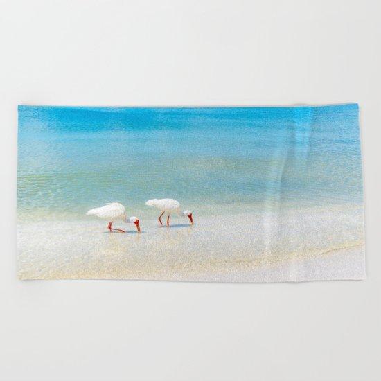 Feeding Time Beach Towel