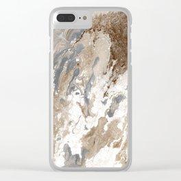 Vanilla Chocolate Sundae Melt Clear iPhone Case