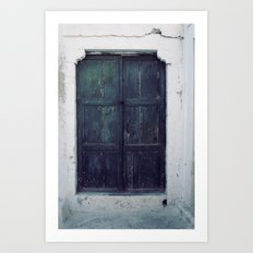 Santorini Door II Art Print