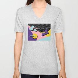 Memphis Pattern 23 - 80s Retro - Pastel Colors Unisex V-Neck